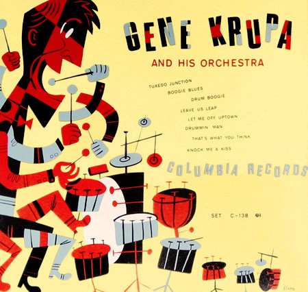 Gene Krupa. 78 rpm album Columbia