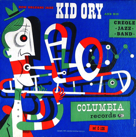 Kid Ory, 78 rpm album Columbia