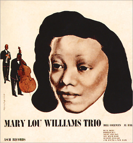 Mary Lou Williams, 78 rpm album, Asch Records, David Stone Martin